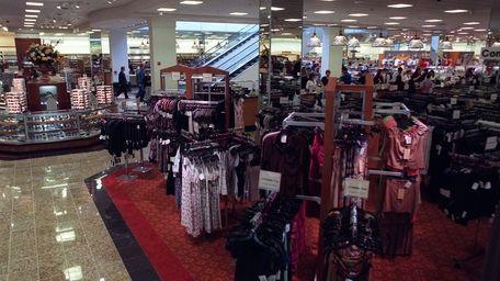 The sales floor at Century 21 in Westbury.