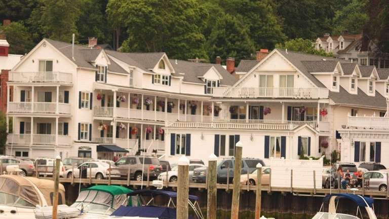 Port Jefferson's Danford's Hotel and Marina sits right
