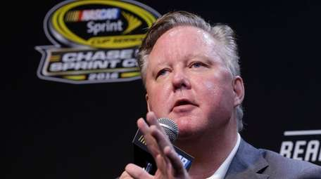 NASCAR chairman Brian France at a news conference