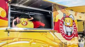 Pete Robideau in his Cheezy Pete's food truck
