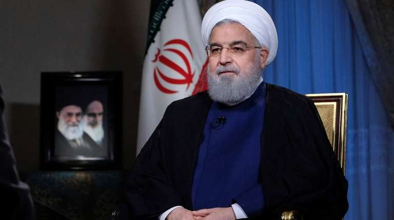 Iranian President Hassan Rouhani addresses the nation in
