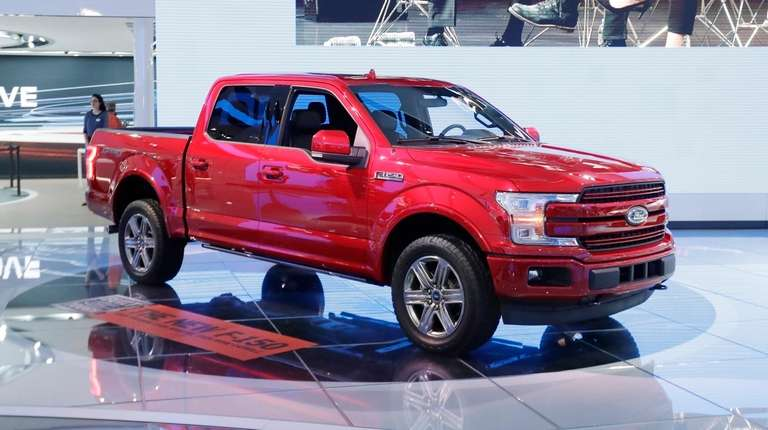 A 2018 Ford F-150 is displayed at the