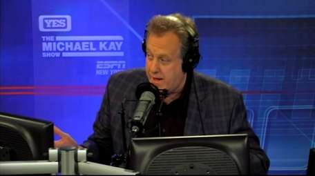 Sportscaster Michael Kay on his show on the