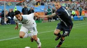 Zlatan Ljubijankic of Slovenia and Jay Demerit of