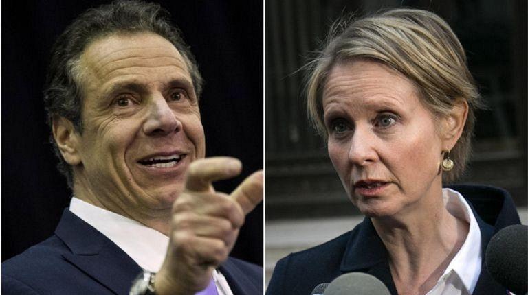 Gov. Andrew Cuomo and Cynthia Nixon are