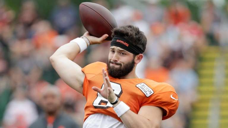 Cleveland Browns quarterback Baker Mayfield throws during NFL