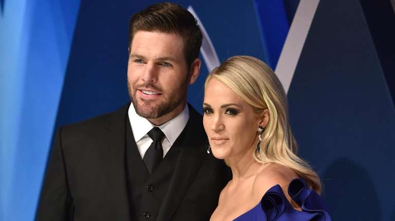 Carrie Underwood and Mike Fisher at the 51st