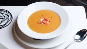 The lobster bisque, with a trove of lobster
