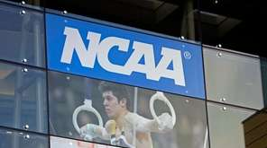The NCAA headquarters is shown in Indianapolis on