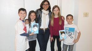 Author R.J. Palacio meets with Kidsday reporters Michael