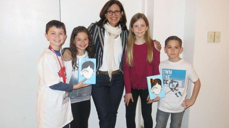 Author R.J. Palacio meets with Kidsday reporters Michael