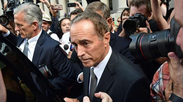New York Rep. Christopher Collins leaves federal court