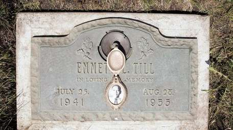 A plaque marks the gravesite of Emmett Till