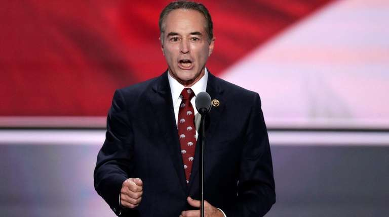 Rep. Chris Collins speaks at the Republican National
