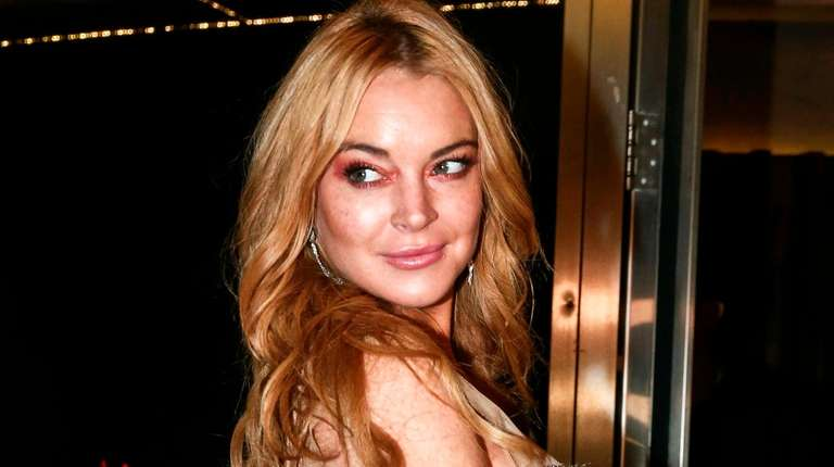 Lindsay Lohan attends the opening night of
