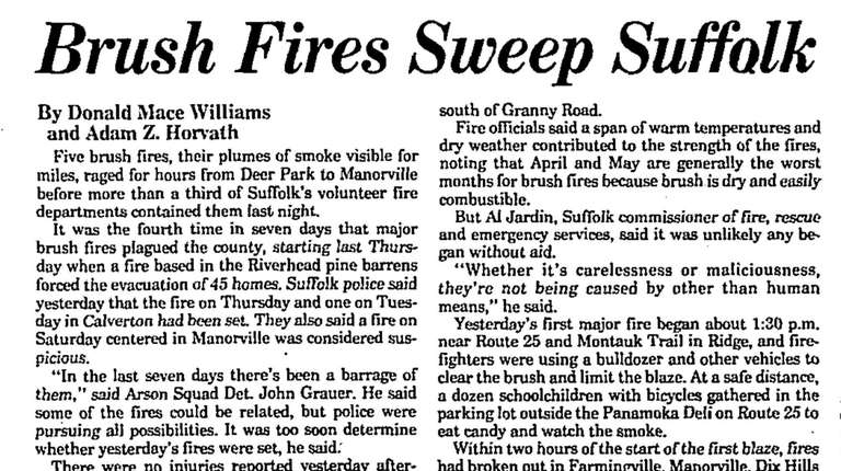April 27, 1989, Newsday article.