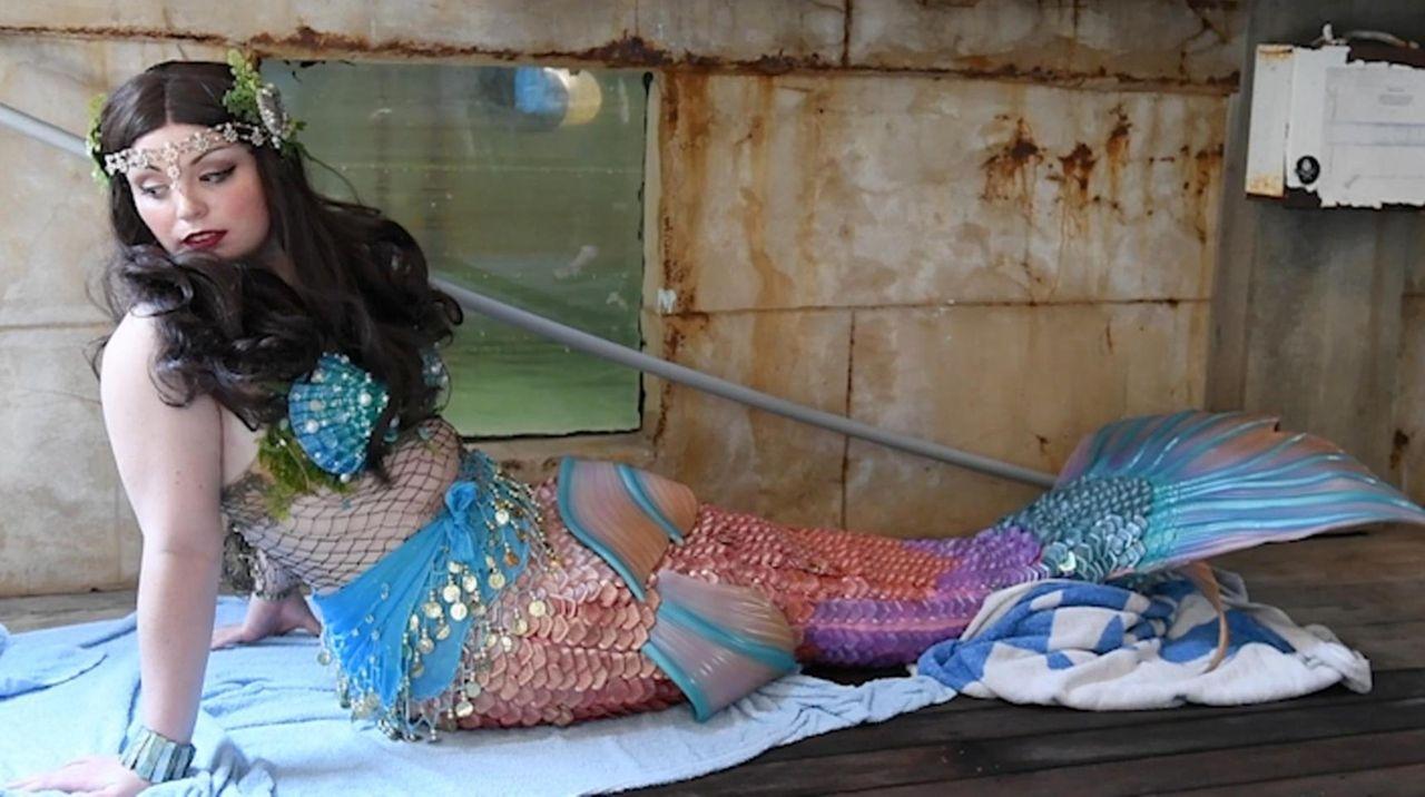 Residents throughout Long Island take part in mermaid