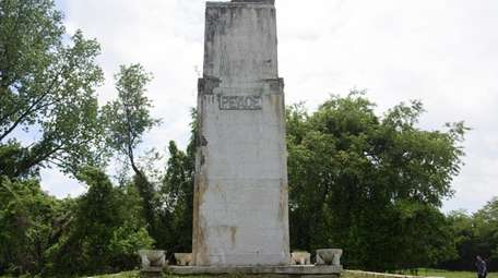 Among the larger monuments on the island is