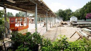Construction at Hicks Nurseries in Westbury, seen Thursday,