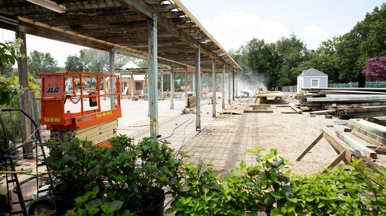 Construction at Hicks Nurseries in Westbury, seen Thursday,