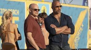 "Rob Corddry and Dwayne Johnson of HBO's ""Ballers,"""