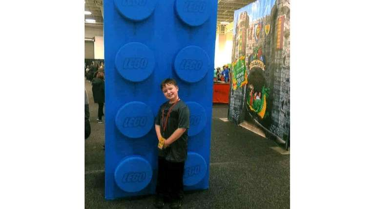 Kidsday reporter Anthony Zaino at Lego Live in