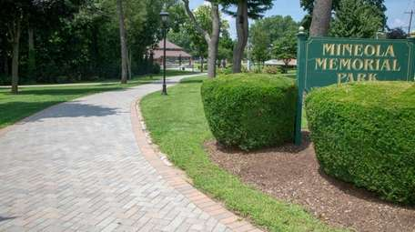 Memorial Park, features tennis courts, a playground and