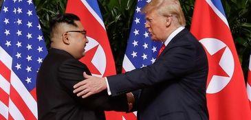 President Donald Trump meets North Korea leader Kim