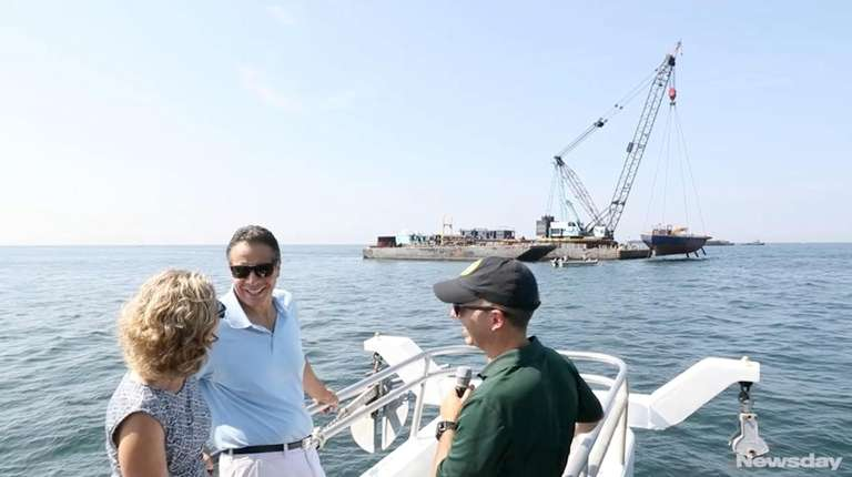 Gov. Andrew M. Cuomo announced an artificial reef