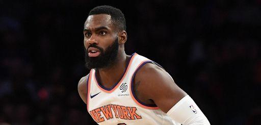 New York Knicks forward Tim Hardaway Jr. looks
