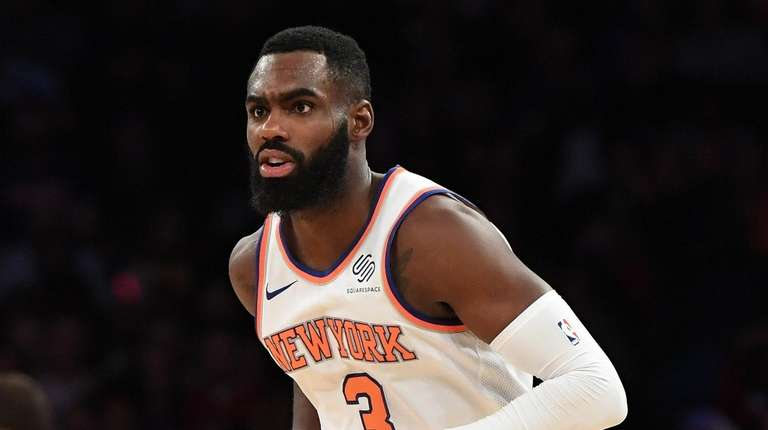 New York Knicks forward Tim Hardaway Jr. looks