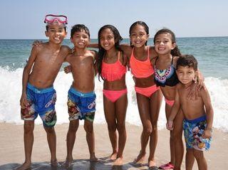 From left, Andrew Guzman, 11, Samuel Guzman, 9,