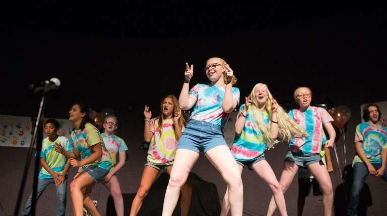 "Campers sing and dance to ""Uptight"" during Camp"