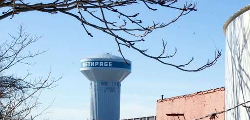 The Bethpage water tower shown on Feb. 17,