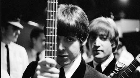 Paul McCartney and John Lennon on their first