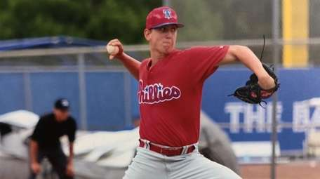 Waard Melville product Ben Brown pitching for the