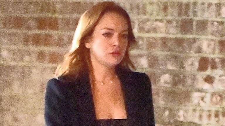 Lindsay Lohan, seen in Manhattan's SoHo neighborhood on