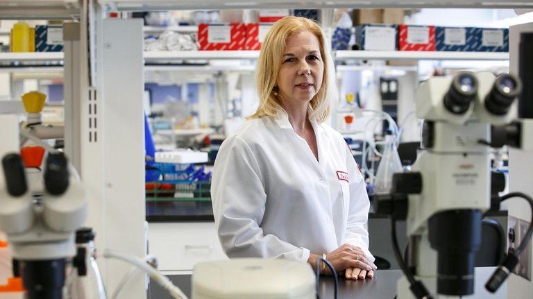 Dr. Ellen Unterwald in one of the labs