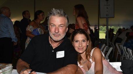 Alec and Hilaria Baldwin attend the East Hampton