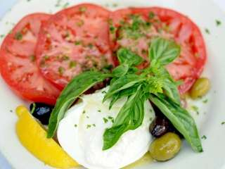 Silver's, a restaurant in Southampton, serves tomato, basil