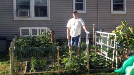 Anthony Kamanes of East Meadow is growing beefsteak