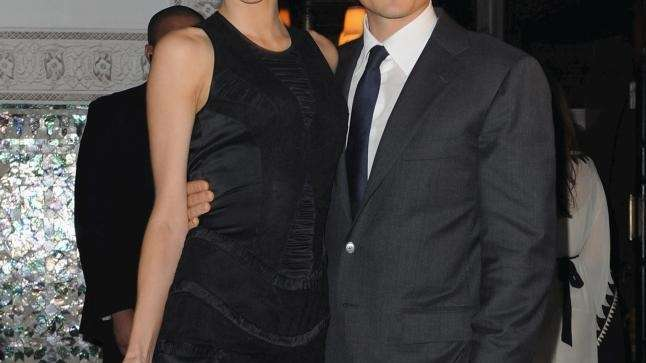 From left, Miranda Kerr and Actor Orlando Bloom