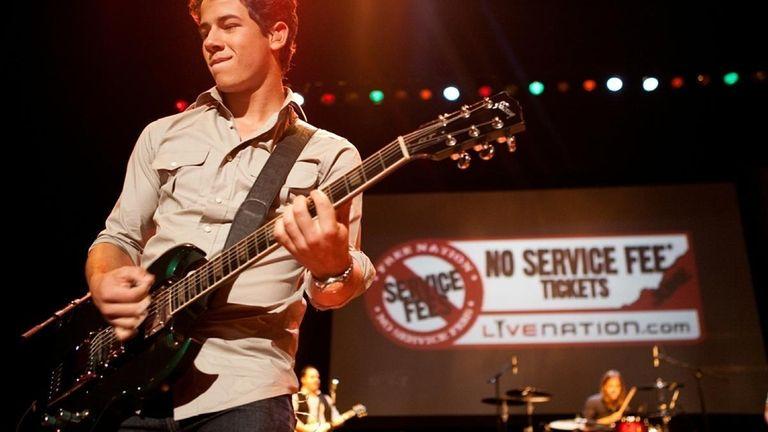 Nick Jonas of the Jonas Brothers perform for