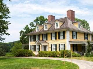 The main house at the Sylvester Manor on