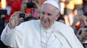Pope Francis arrives at Rome's Circus Maximus to