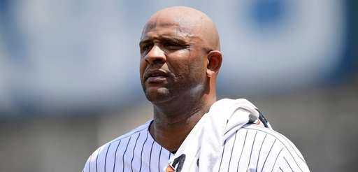 CC Sabathia of the Yankees walks to the