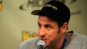 Actor Adam Sandler speaks to the media prior