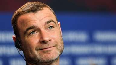 Liev Schreiber at a news conference for the