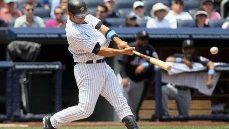 Jorge Posada #20 of the New York Yankees