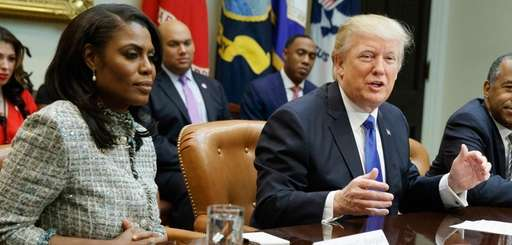 Omarosa Manigault Newman with President Donald Trump in